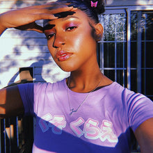 Load image into Gallery viewer, ARTISY PURPLE CROP TOP - DIFTAS - Do It For The Aesthetics