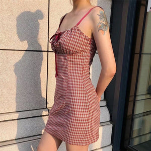 CLASSIC CHECKERED DRESS - DIFTAS - Do It For The Aesthetics