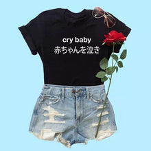 Load image into Gallery viewer, CRY BABY T-SHIRT - DIFTAS - Do It For The Aesthetics