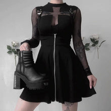 Load image into Gallery viewer, GRUNGE BLACK DRESS