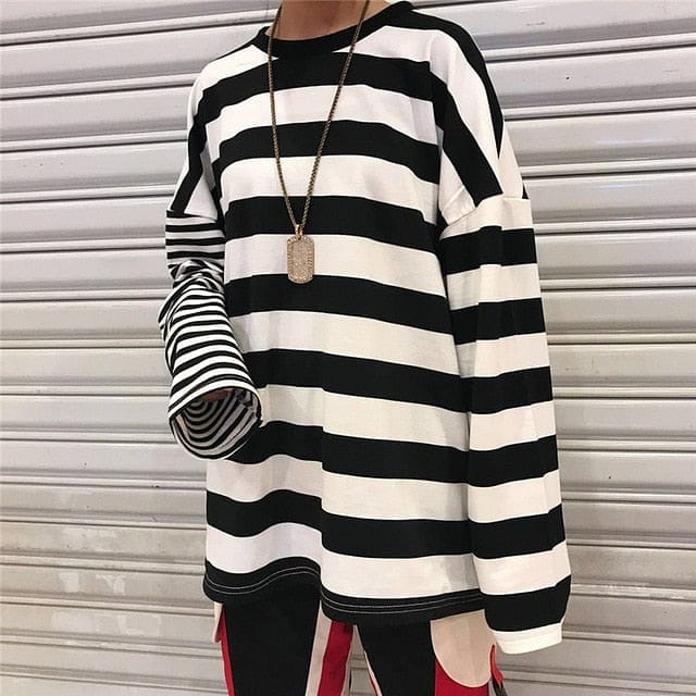 DOUBLE STRIPE FULL-SLEEVES TEE - DIFTAS - Do It For The Aesthetics