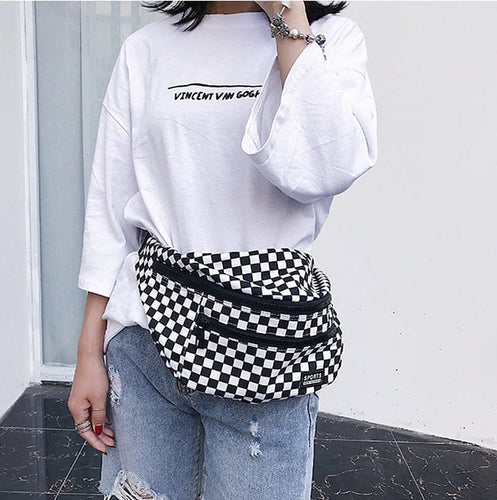CHECKERBOARD SHOULDER BAG - DIFTAS - Do It For The Aesthetics