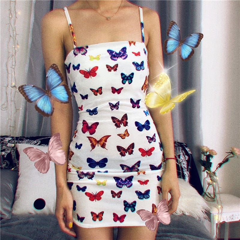BUTTERFLY WHITE DRESS - DIFTAS - Do It For The Aesthetics