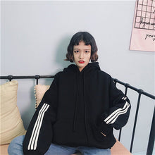 Load image into Gallery viewer, OVERSIZED STRIPE HOODIE - DIFTAS - Do It For The Aesthetics