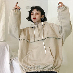 OVERSIZE PLAIN HOODIE - DIFTAS - Do It For The Aesthetics
