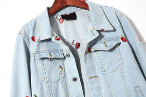 CHERRY DENIM JACKET - DIFTAS - Do It For The Aesthetics