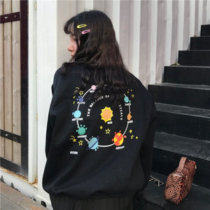 PLANETS SWEATSHIRT - DIFTAS - Do It For The Aesthetics