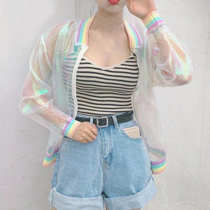 RAINBOW TRANSPARENT JACKET - DIFTAS - Do It For The Aesthetics
