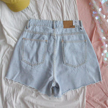 Load image into Gallery viewer, HAPPY DENIM SHORTS - DIFTAS - Do It For The Aesthetics