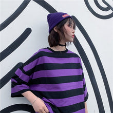 Load image into Gallery viewer, PURPLE STRIPED TEE - DIFTAS - Do It For The Aesthetics