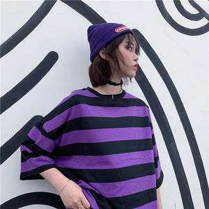 PURPLE STRIPED TEE - DIFTAS - Do It For The Aesthetics