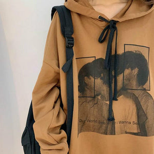 VINTAGE FACES HOODIE - DIFTAS - Do It For The Aesthetics