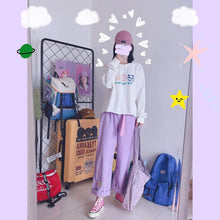Load image into Gallery viewer, PURPLE KAWAII PANTS - DIFTAS - Do It For The Aesthetics