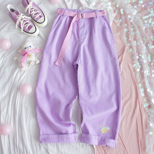 PURPLE KAWAII PANTS - DIFTAS - Do It For The Aesthetics