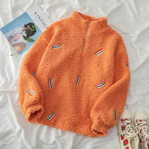 ORANGE RAINBOW SWEATSHIRT - DIFTAS - Do It For The Aesthetics