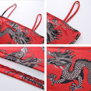 DRAGON RED DRESS - DIFTAS - Do It For The Aesthetics