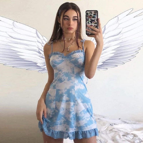 CLOUDS BLUE DRESS - DIFTAS - Do It For The Aesthetics