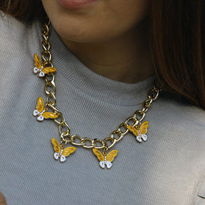 BUTTERFLY GOLD NECKLACE - DIFTAS - Do It For The Aesthetics