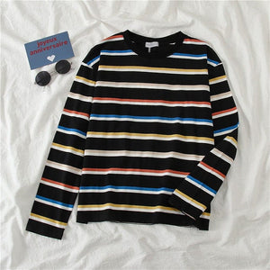 STRIPES VIBES FULL-SLEEVES TEE - DIFTAS - Do It For The Aesthetics