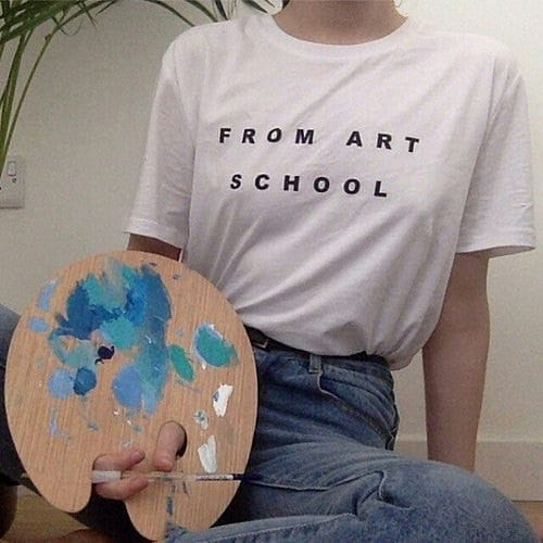 FROM ART SCHOOL T-SHIRT - DIFTAS - Do It For The Aesthetics