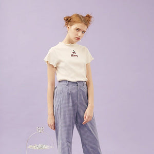CHERRY CROPPED T-SHIRT - DIFTAS - Do It For The Aesthetics