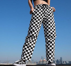CHECKERBOARD STRAIGHT TROUSER - DIFTAS - Do It For The Aesthetics