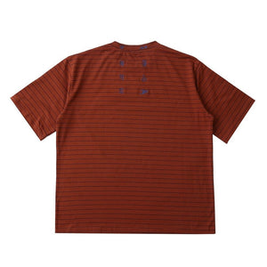 BROWN STRIPED T-SHIRT - Diftas