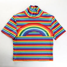 Load image into Gallery viewer, RAINBOW STRIPE CROP TOP - DIFTAS - Do It For The Aesthetics