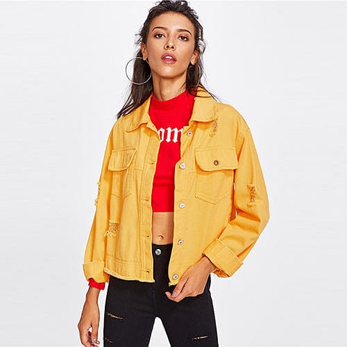 YELLOW VINTAGE JACKET - DIFTAS - Do It For The Aesthetics