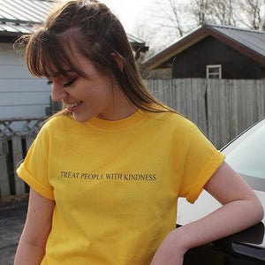 TREAT PEOPLE WITH KINDNESS T-SHIRT - DIFTAS - Do It For The Aesthetics