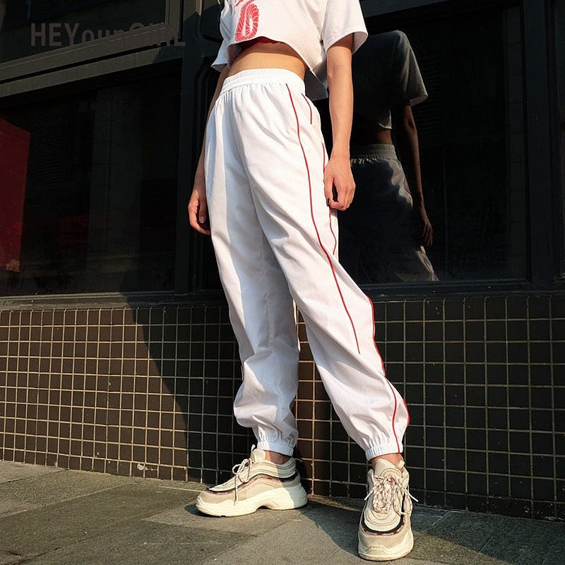 RED STRIPES TROUSER - DIFTAS - Do It For The Aesthetics