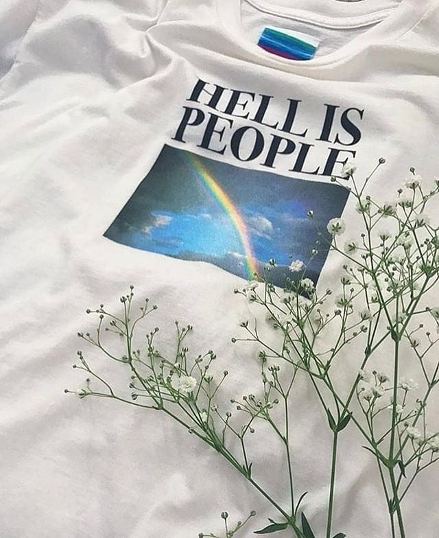 HELL IS PEOPLE T-SHIRT - DIFTAS - Do It For The Aesthetics