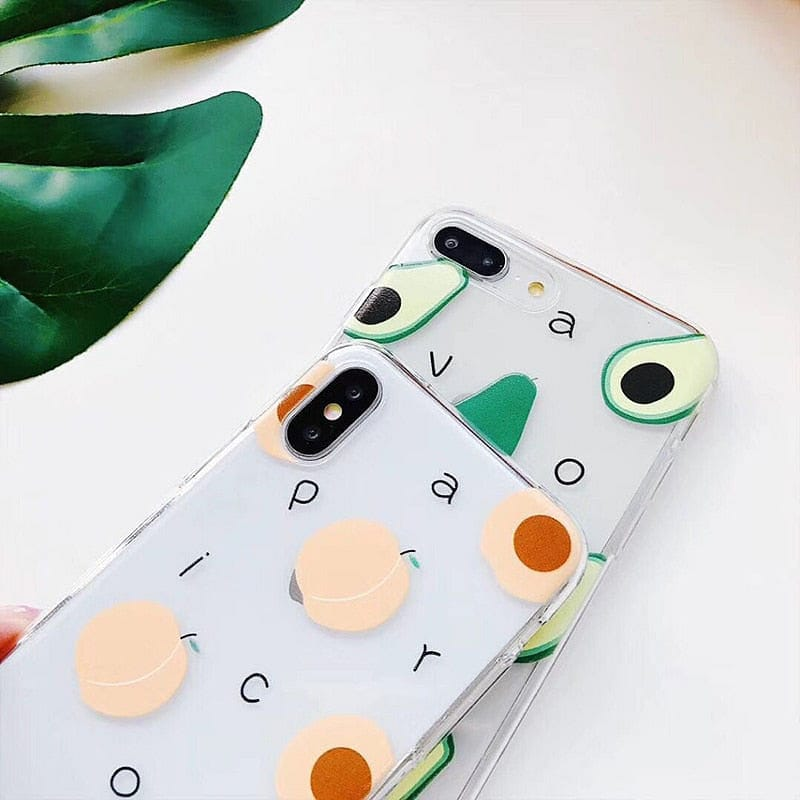 PEACH/AVOCADO PHONE CASE - DIFTAS - Do It For The Aesthetics