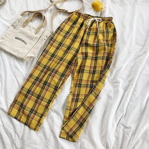 YELLOW CHECKERED TROUSER - DIFTAS - Do It For The Aesthetics