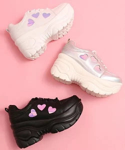 KAWAII HEART SHOES - DIFTAS - Do It For The Aesthetics