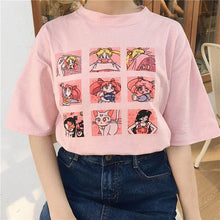 Load image into Gallery viewer, HARAJUKU CHARACTERS T-SHIRTS - DIFTAS - Do It For The Aesthetics