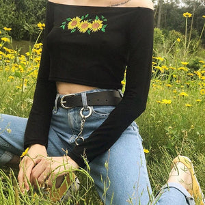 SUNFLOWER CROP TOP - DIFTAS - Do It For The Aesthetics