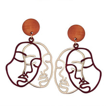 Load image into Gallery viewer, DOUBLE FACE EARRINGS - DIFTAS - Do It For The Aesthetics