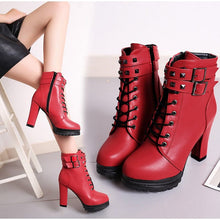 Load image into Gallery viewer, SLIM GOTHIC HIGH BOOTS - DIFTAS - Do It For The Aesthetics