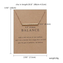 Load image into Gallery viewer, BALANCE NECKLACES - DIFTAS - Do It For The Aesthetics