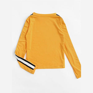 YELLOW BASIC FULL-SLEEVES TEE - DIFTAS - Do It For The Aesthetics