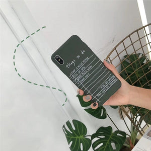 THINGS TO DO PHONE CASE - DIFTAS - Do It For The Aesthetics