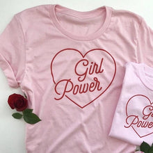 Load image into Gallery viewer, GIRL POWER HEART T-SHIRT - DIFTAS - Do It For The Aesthetics