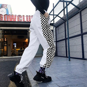 SIDE-CHECKERBAORD TROUSER - DIFTAS - Do It For The Aesthetics
