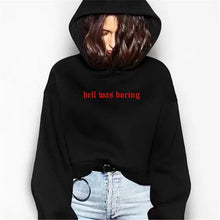 Load image into Gallery viewer, HELL WAS BORING HOODIE - DIFTAS - Do It For The Aesthetics