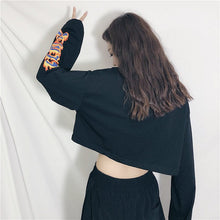 Load image into Gallery viewer, FLAME CROPPED FULL-SLEEVES TEE - DIFTAS - Do It For The Aesthetics