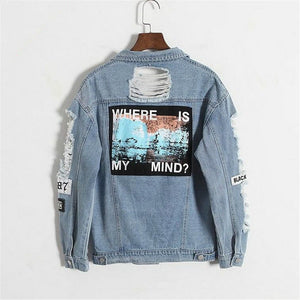 WHERE IS MY MIND DENIM JACKET - DIFTAS - Do It For The Aesthetics