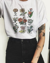 Load image into Gallery viewer, GRUNGE FLOWERS T-SHIRT - DIFTAS - Do It For The Aesthetics