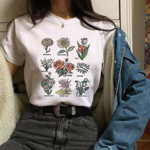 GRUNGE FLOWERS T-SHIRT - DIFTAS - Do It For The Aesthetics