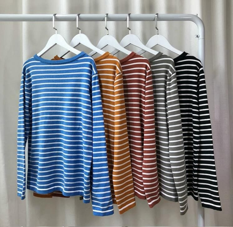 COLORFUL STRIPED FULL SLEEVES T-SHIRT - DIFTAS - Do It For The Aesthetics